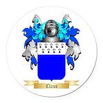 Claus Round Car Magnet