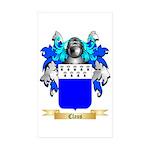 Claus Sticker (Rectangle 50 pk)