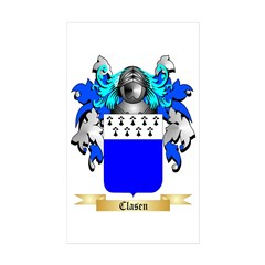Clasen Sticker (Rectangle 50 pk)