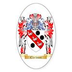 Clarkson Sticker (Oval 10 pk)