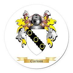 Clarkson 2 Round Car Magnet