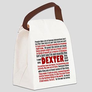 Dexter Quotes Canvas Lunch Bag