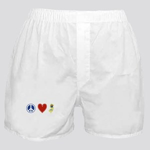 Peace Love New Jersey Boxer Shorts