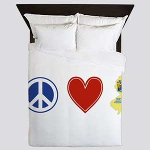 Peace Love New Jersey Queen Duvet