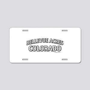 Bellevue Acres Colorado Aluminum License Plate