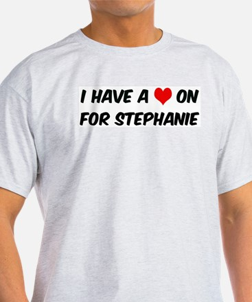 Heart on for Stephanie Ash Grey T-Shirt