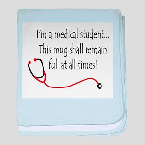 Medical Student Mug baby blanket