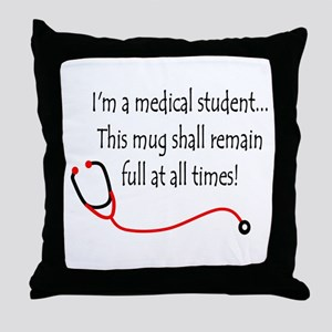 Medical Student Mug Throw Pillow