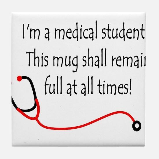 Medical Student Mug Tile Coaster