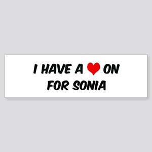 Heart on for Sonia Bumper Sticker
