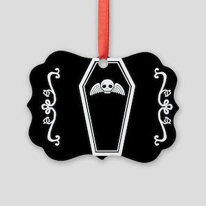 Cute Coffin Picture Ornament