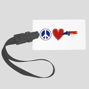 Peace Love North Carolina Large Luggage Tag