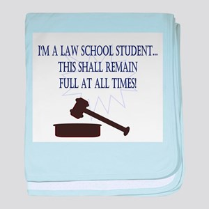 I'm a law school student. baby blanket