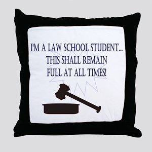 I'm a law school student. Throw Pillow