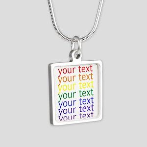 roygbiv text Necklaces
