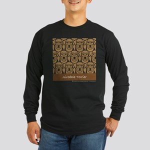 Airedale Terriers Long Sleeve Dark T-Shirt