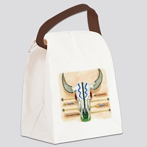 ceremonial skull tee Canvas Lunch Bag