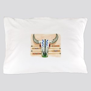 ceremonial skull tee Pillow Case