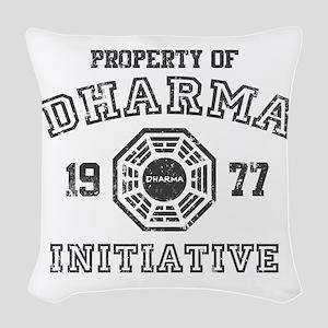 Property of Dharma Distresses Woven Throw Pillow