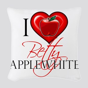 I Heart Betty Applewhite Woven Throw Pillow