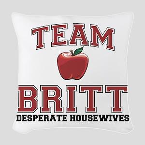 Team Britt Woven Throw Pillow