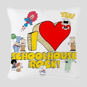 I Heart Schoolhouse Rock! Woven Throw Pillow