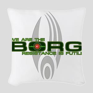 Borg - Resistance is Futile Woven Throw Pillow