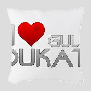 I Heart Gul Dukat Woven Throw Pillow