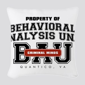 Property of Behavioral Analys Woven Throw Pillow