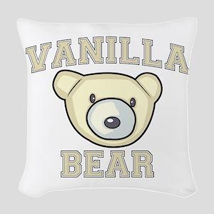 Vanilla Bear Woven Throw Pillow