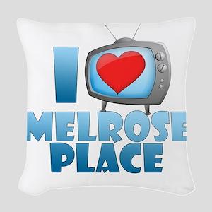 I Heart Melrose Place Woven Throw Pillow