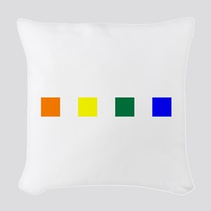 Rainbow Pride Squares Woven Throw Pillow