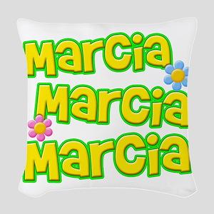 Marcia, Marcia, Marcia Woven Throw Pillow