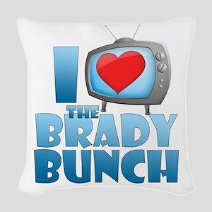 I Heart The Brady Bunch Woven Throw Pillow