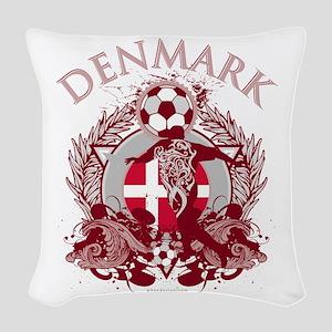 Denmark Soccer Woven Throw Pillow