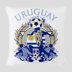 Uruguay Soccer Woven Throw Pillow