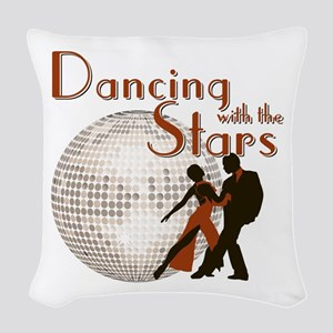Retro Dancing with the Stars Woven Throw Pillow