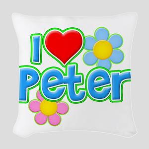 I Heart Peter Woven Throw Pillow