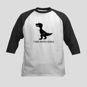 T-Rex Hates Duels Kids Baseball Jersey