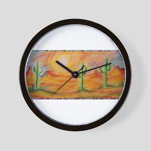 Desert, scenic southwest landscape! Wall Clock