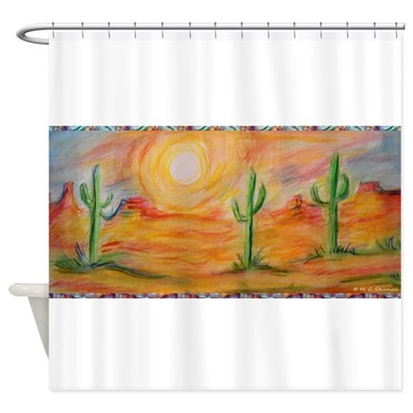 Desert Scenic Southwest Landscape Shower Curtain By Meowries