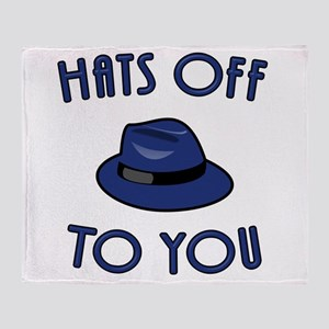 Hats Off To You Throw Blanket