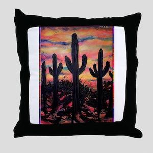Desert, southwest art! Saguaro cactus! Throw Pillo