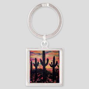 Desert, southwest art! Saguaro cactus! Keychains
