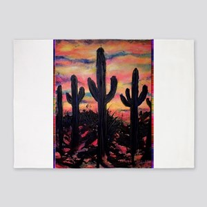 Desert, southwest art! Saguaro cactus! 5'x7'Area R