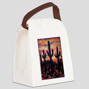 Desert, southwest art! Saguaro cactus! Canvas Lunc
