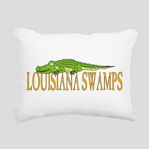 Louisiana Swamps Alligator Rectangular Canvas Pill