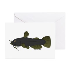 Bullhead Catfish Greeting Cards (Pk of 20)