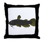 Bullhead Catfish Throw Pillow