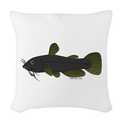 Bullhead Catfish Woven Throw Pillow